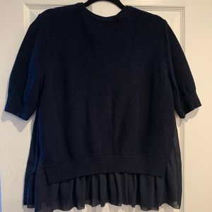 COS Navy Blue Sweater Top